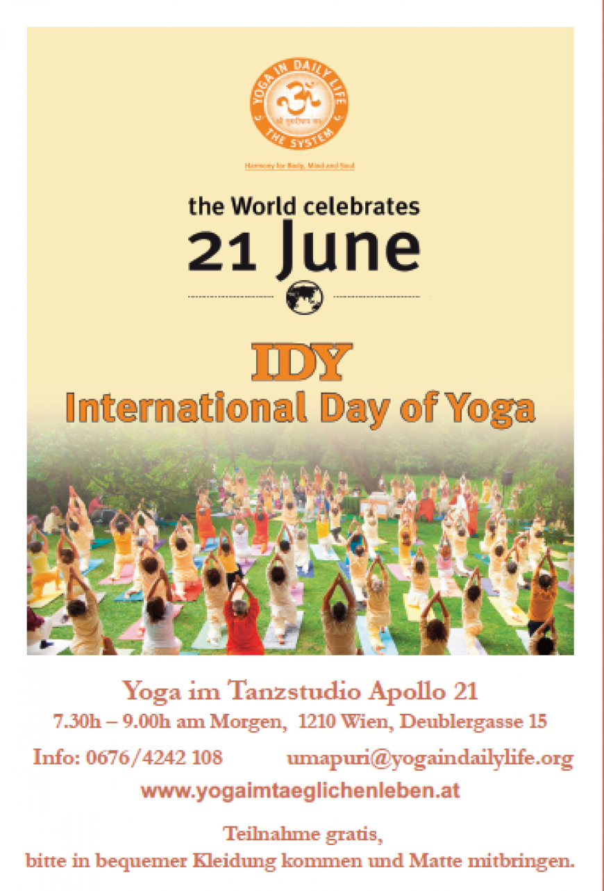 International Day of Yoga – IDY am 21.06.2015
