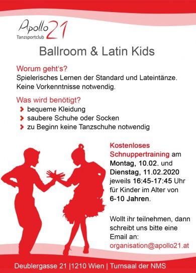 Apollo Ballroom & Latin Kids NEU ab Februar 2020