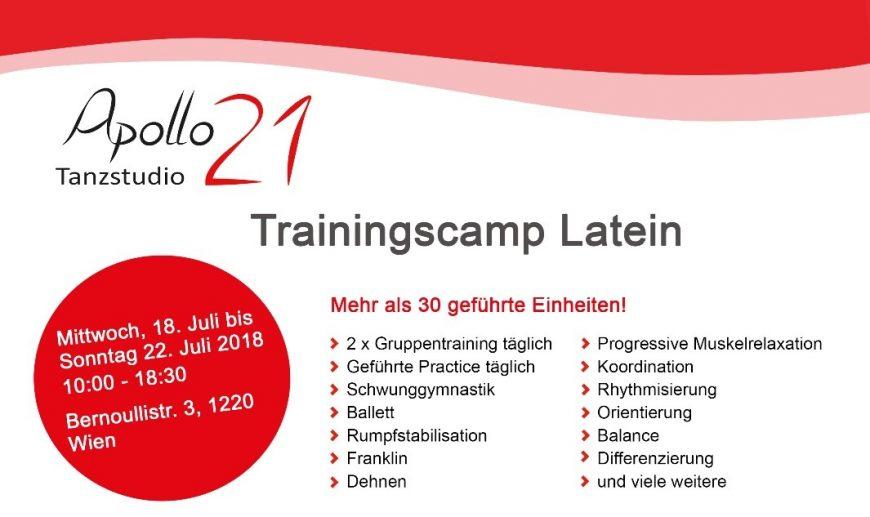Apollo21 Trainingscamps Standard & Latein – Anmeldungen ab sofort möglich!!!
