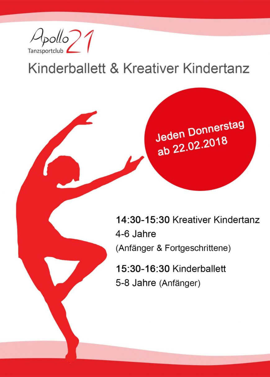 NEU: Kindertanz im Tanzstudio Apollo21