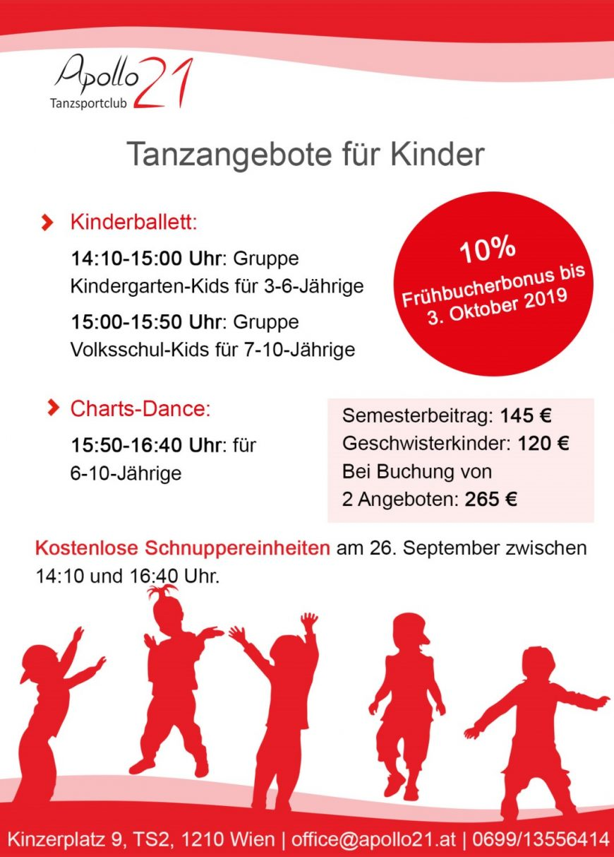 Kinderballett & Charts-Dance – Schnuppertrainings