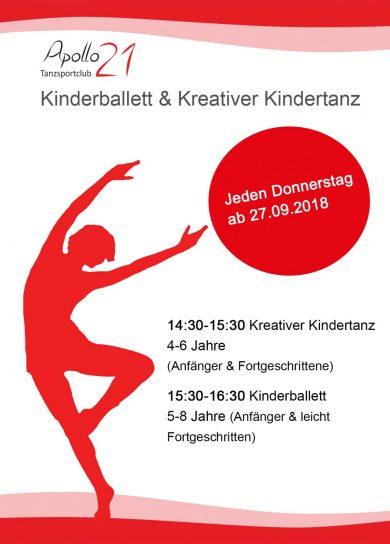 Kindertanzen im Tanzstudio Apollo21 – ab September!