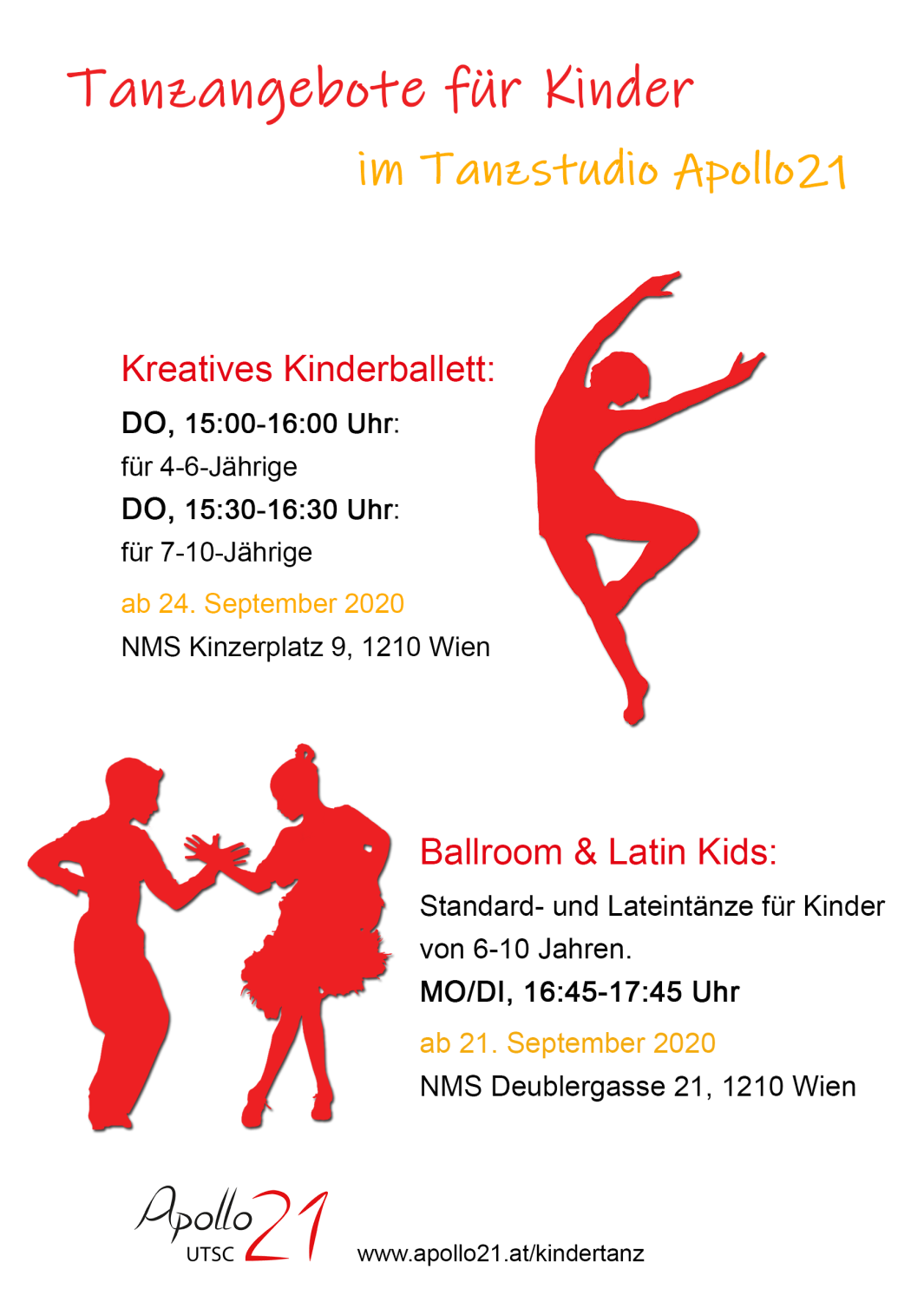 Kindertanzangebote im Apollo21