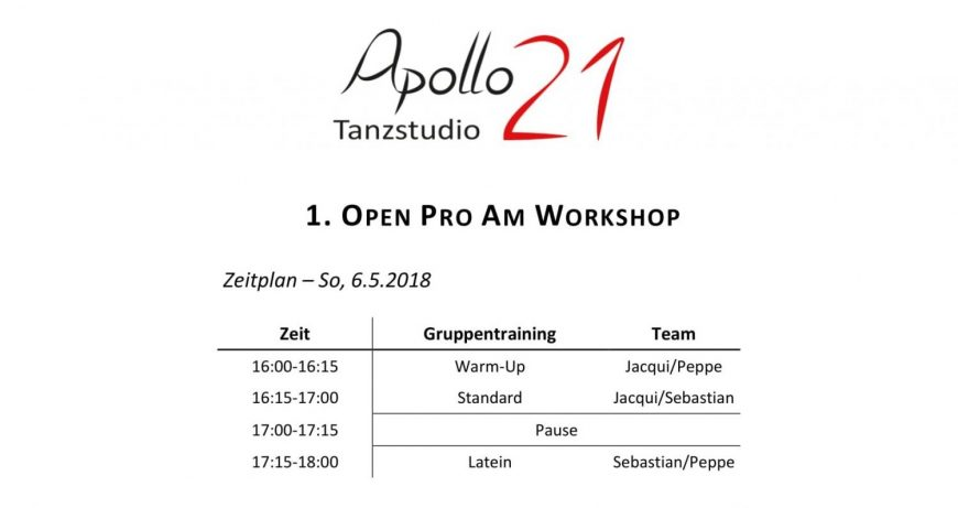 1. Apollo21 Open ProAm Workshop