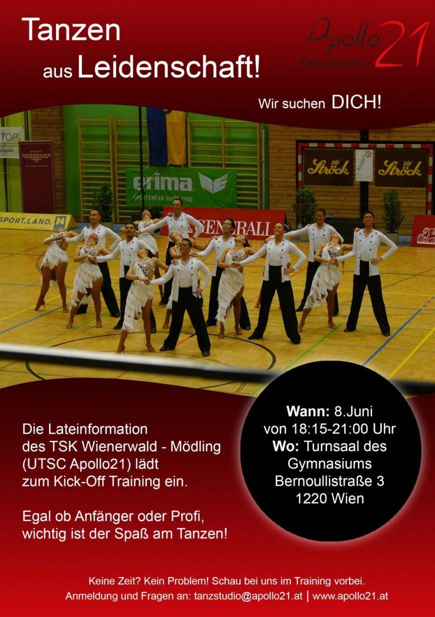 Komm zum Kick-Off Training unserer Latein-Formation <3