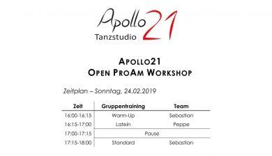 Apollo21 Open ProAm Workshop am 24. Februar 2019
