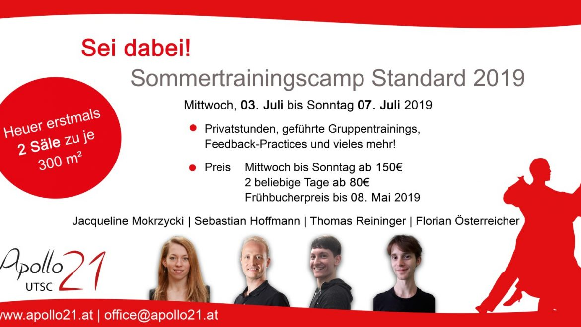 Sommertrainingscamps 2019 – Standard & Latein