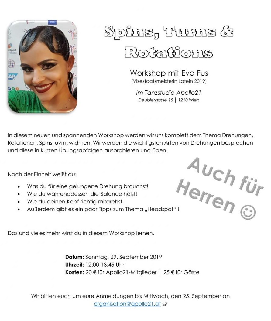 Spins, Turns & Rotations mit Eva Fus