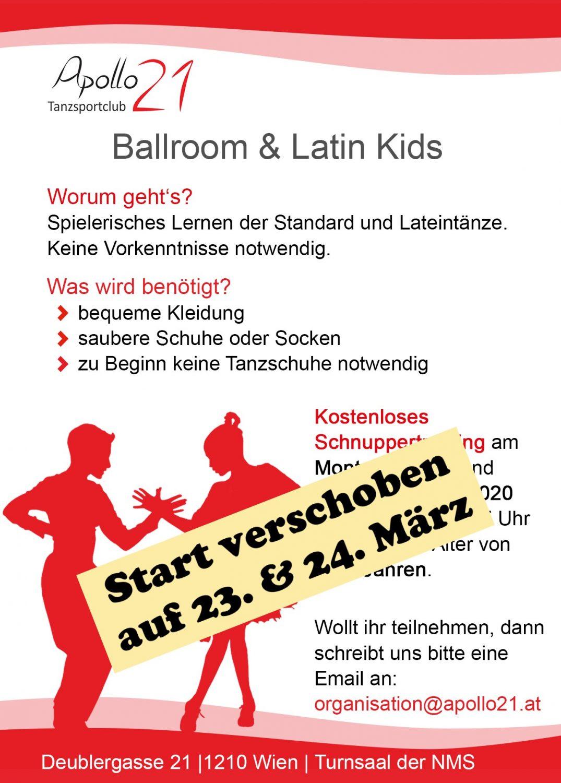 Verschoben: Apollo Ballroom & Latin Kids – 23. & 24. März